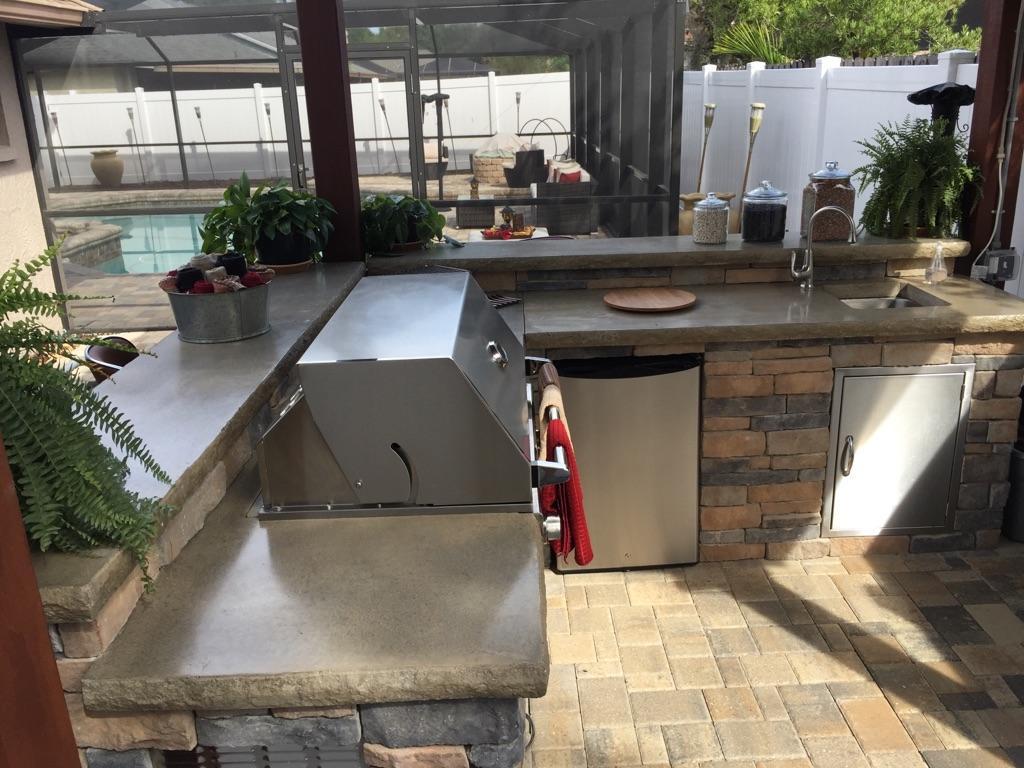 l shape outdoor kitchen fl