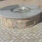 outdoor kitchen firpit install